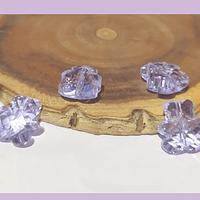 Cristal tipo separador en forma de oso, color lila, 13 x 11 mm, set de 4 unidades