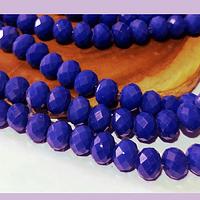 Cristal azul de 8 mm, tira de 69 cristales aprox.