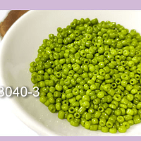 Mostacilla color verde pistacho de 11/0 set de 50 grs.