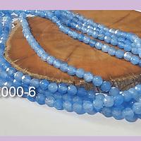 Agatas, Agata de 4 mm, en tono celeste 95 piedras aprox