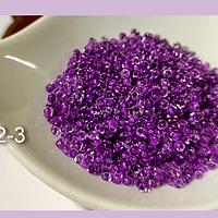Mostacilla color lila cristal de 11/0 set de 50 grs.