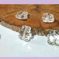 Cristal tipo separador en forma de oso, color transparente, 13 x 11 mm, set de 4 unidades
