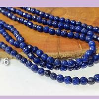 Agatas, Agata de 4 mm, en tono azul 95 piedras aprox