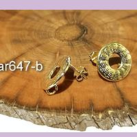 Base de aro baño de oro, 14 mm, por par