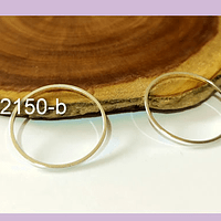 Circulo baño de oro, 25 mm de de diámetro, por 1 mm de grosor, set de 2 unidades