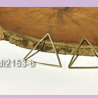 Triángulo baño de oro, 20 x 20 mm, por par