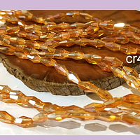 Cristal bicono naranjo facetado, 10 x 4 mm, tira de 70 cristales aprox.