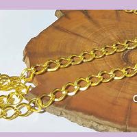 Cadenas, cadena dorado, eslabón de 8 x 7 mm, por metro