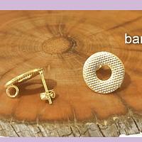 Base de aro baño de oro, 9 mm, por par