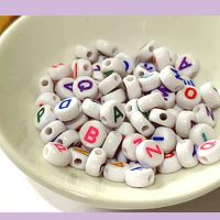 Separador letras, 6 x 3 mm, agujero de 1 mm, set de 25 grs. (170 letras aprox)