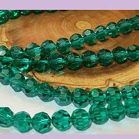 Cristal redondo de 8 mm, color verde, tira de 38 cristales aprox