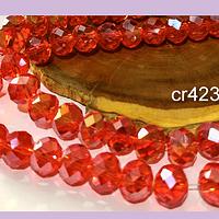 Cristal 10 x 8 mm, tonos rojo tornasol, set de 20 unidades
