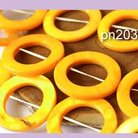 Nacar amarillo, 32 mm de diámetro, tira de 13 piedras aprox