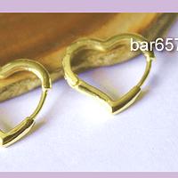 Aros en forma de corazón, 20 x 18 mm, por par, san valentin