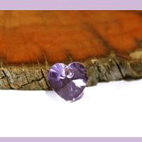 Cristal austriaco en forma de corazón lila, 10 x 10 mm, por unidad, san valentin