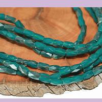 Cristal facetado color verde especial excelente calidad, 4 x 2 mm, set de 98 cristales aprox.