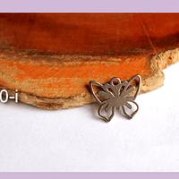 dije mariposa de acero, 12 x 10 mm, por unidad