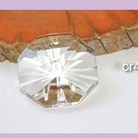 Cristal doble conexión, 25 mm x 12 mm de ancho, por unidad, especial para prismas