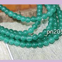 Jade verde de 4 mm, tira de 82 piedras aprox.