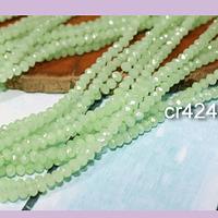 Cristal facetado de 2 mm, color verde agua, tira de 190 piedras aprox.