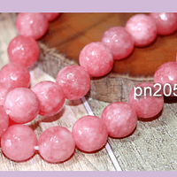 Agatas, Agata de 10 mm en en tono rosado, tira de 38 piedras aprox