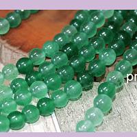 Jade verde de 6 mm, tira de 62 piedras aprox.