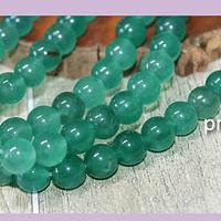 Jade verde de 8 mm, tira de 48 piedras aprox.