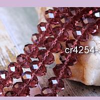 Cristal color ciruela de 12 mm por 10 mm, tira de 20 piedras