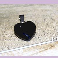 Dije onix en forma de corazón, 15 x 16 mm, por unidad (opalina). San Valentin