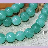 Jade verde de 10 mm, tira de 40 piedras aprox.