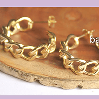 Base de aro baño de oro, 25 mm de diámetro, 7 mm de ancho, por par