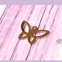 Dije mariposa acero, 18 x 14 mm, por unidad