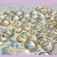 Argolla plateada 12 mm de diámetro set de 25 grs
