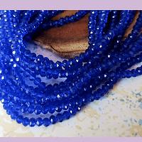 Cristal azul 4 mm, tira de 140 cristales aprox
