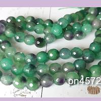 Agatas, agata facetada verdes y lilas, de 8 mm, tira de 48 piedras apróx