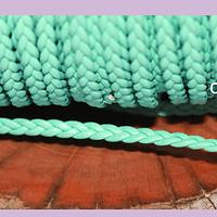 Imitación cuero trenzado buena calidad, color jade 4 mm de ancho, por metro