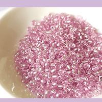 Mostacilla rosado cristal 8/0 , set de 50 grs