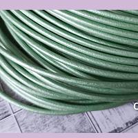 Cuero 3 mm, en tono verde mermaid, por metro