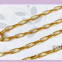 Cadena dorada, eslabón de 8 x 5 mm, por metro