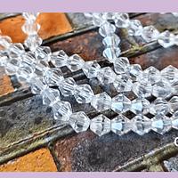 Cristal tupi 6 mm transparente, tira de 45 cristales aprox