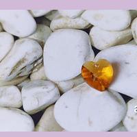 Cristal austriaco en forma de corazón amarillo ambar, 10 x 10 mm, por unidad