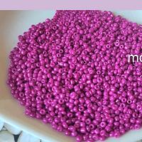Mostacilla color fucsia de 11/0 set de 50 grs.