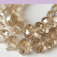Cristal facetado de 16 mm en color champagne, set de 10 cristales