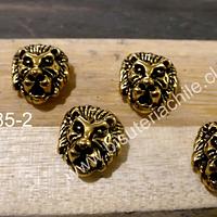 Separador en forma de león, 11 x 12 mm, set de 4 unidades