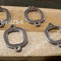 Base acero doble conexión, 17 x 13 mm, set de 4 unidades