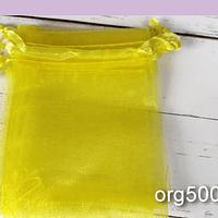 Bolsa de organza amarillo, 7 x 9 , set de 10 unidades