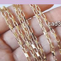 Cadena baño de oro, eslabón de 5 x 2,5, y 1,5 mm de ancho, por 50 cm (medio metro)