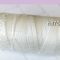 Hilos, hilo encerado blanco rollo de 100 mts.