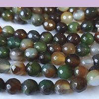 Agatas, Agata facetada de 8 mm, tira de 46 piedras apróx