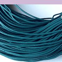 Cuero azul petroleo, de 1 mm, por metro